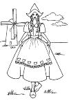 This is a typical Dutch cheese girl! With one mill left and right behind a cloud.